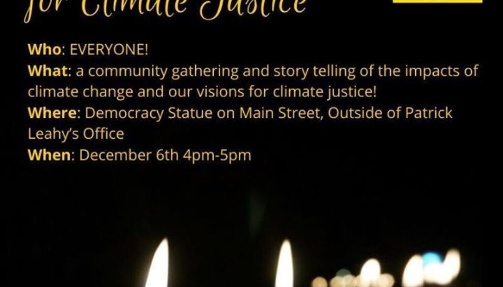 Candlelight Vigil for Climate Justice